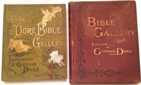 Two Gustave Dore Bibles, 19th Century