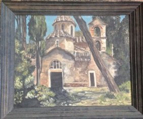 Forest Mission Oil Painting C.1930