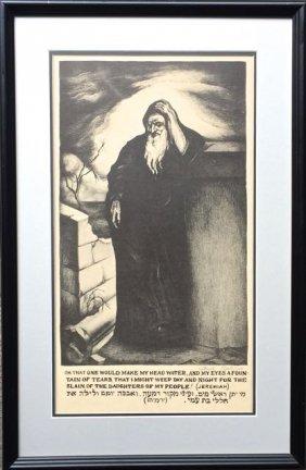 "Saul Rabino (russian,1892-1969)""jeremiah"""