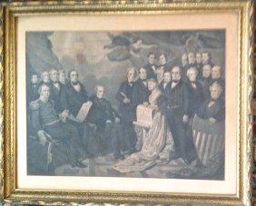"Historic American Engraving ""union"" 1852"