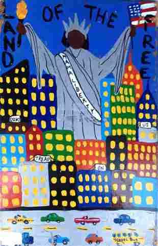 "American Urban Art Painting ""Mama Liberty"" Myrtle"