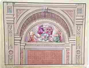 (6) Theadore Pizzuti Paintings, Murals & Architectural