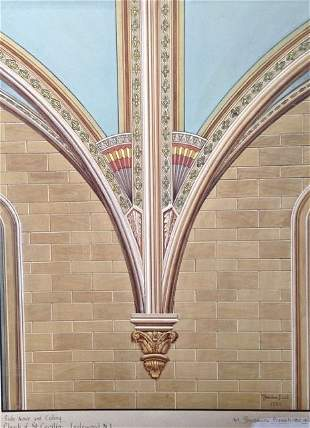 (7)Theodore Pizzuti Paintings, Biblical & Architectural