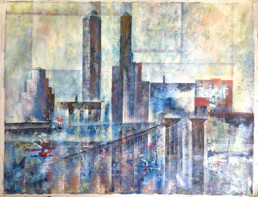 New York City Modernist Oil Painting, Piet Ludovic
