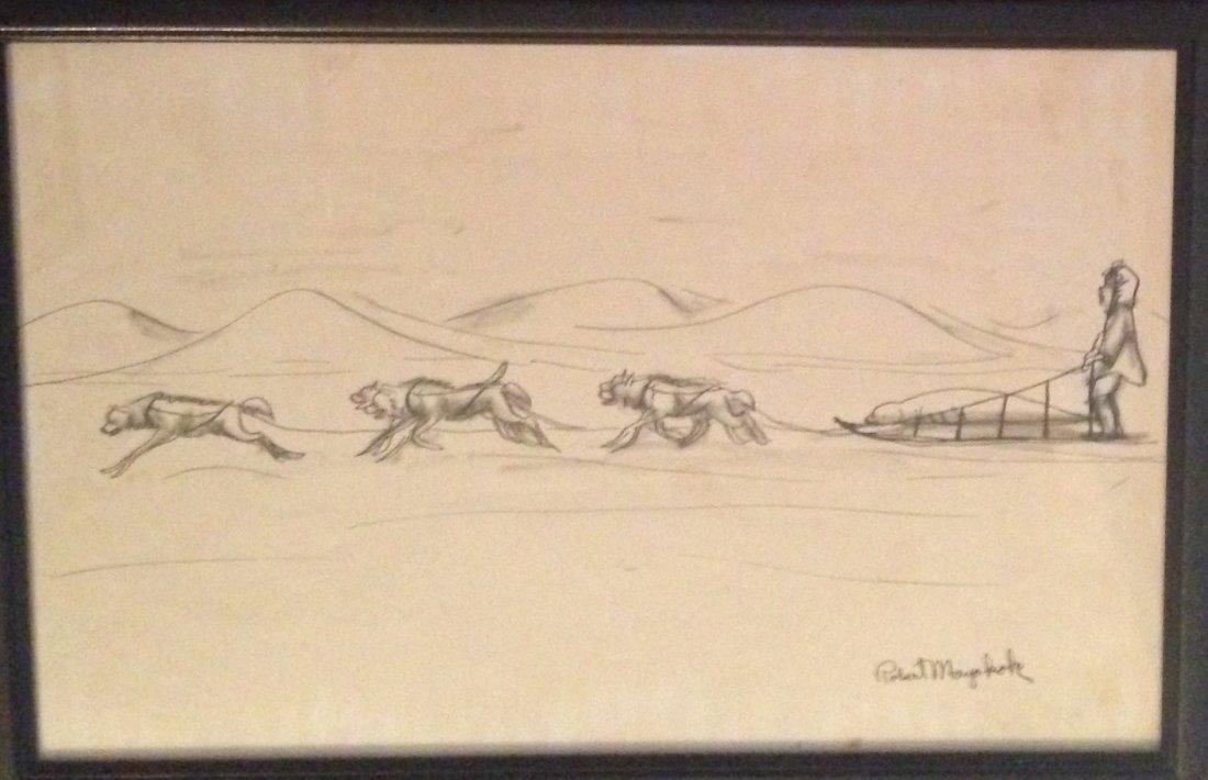 Three Alaskan Paintings, Robert Mayokok - 4