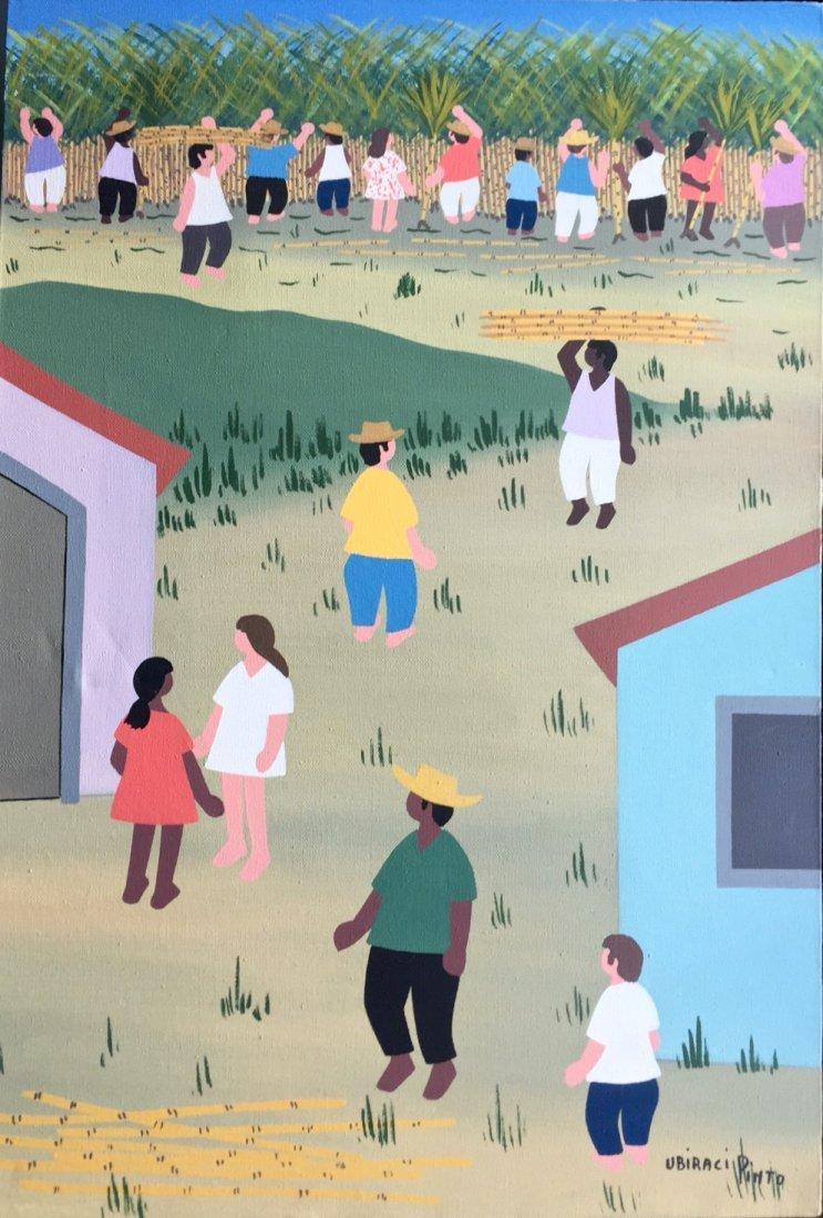 Urban Village painting, Ubiraci Pinto, Brazil
