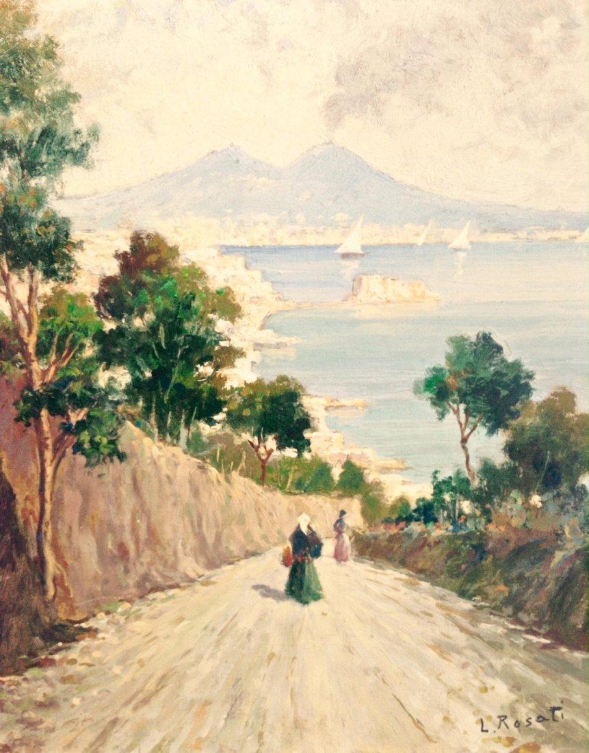 19th Century Italian Landscape Painting, Rosati