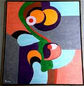Mid-century Modernist Abstract Painting, Northup
