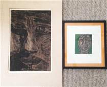 Two American Modernist Etchings, Signed