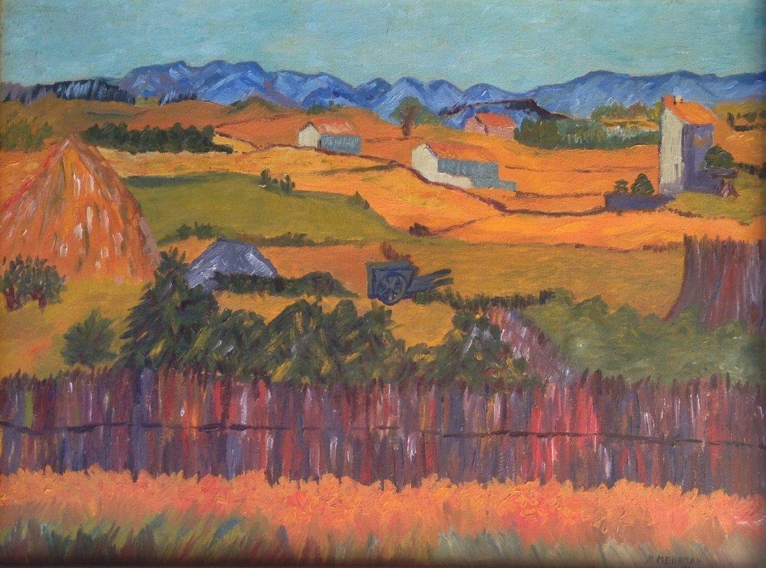 Mid-century American Farm Landscape Painting - 2