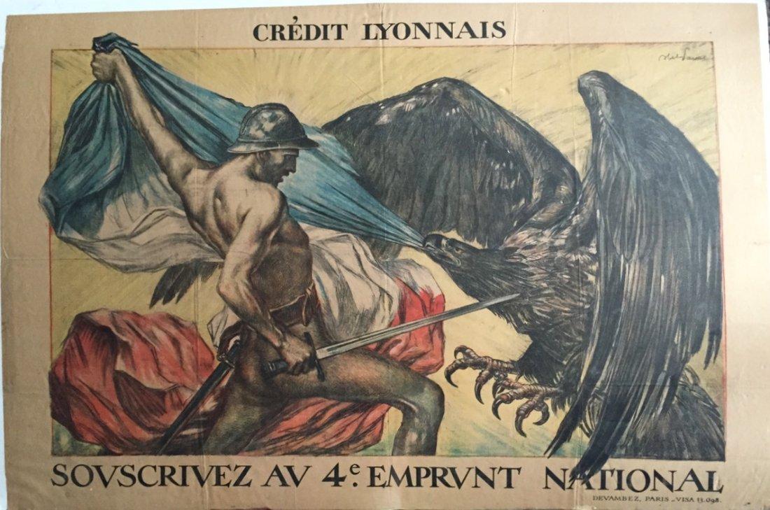 Jules-Abel Faivre Ww1 Propaganda Poster 1918