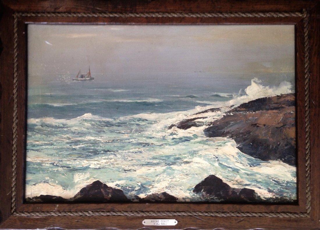 Carl Ivar Gilbert (American, b.1882-1958) Maine Coast