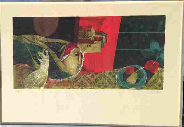 Sunol Alvar (Spanish b.1935) Colored Lithograph P/S/N
