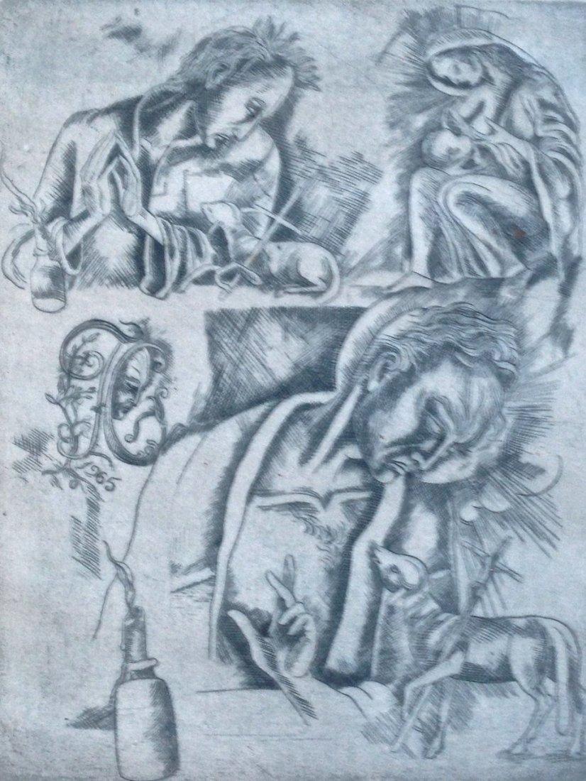 Federico Cantu, Modern Mexican Etching, 1965 - 2