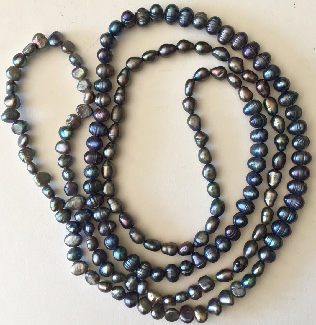 "Tahitian Pearl Necklace, 46"" lg."