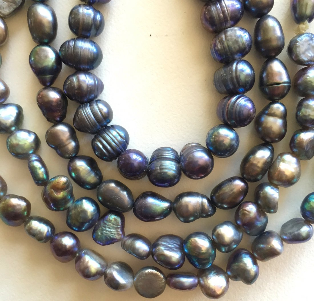 "Tahitian Pearl Necklace, 46"" lg. - 2"