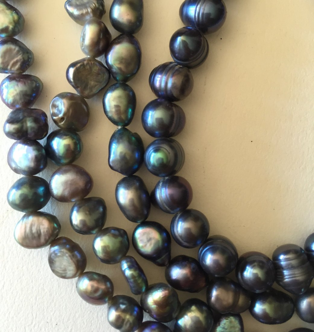 "Tahitian Pearl Necklace, 46"" lg. - 4"