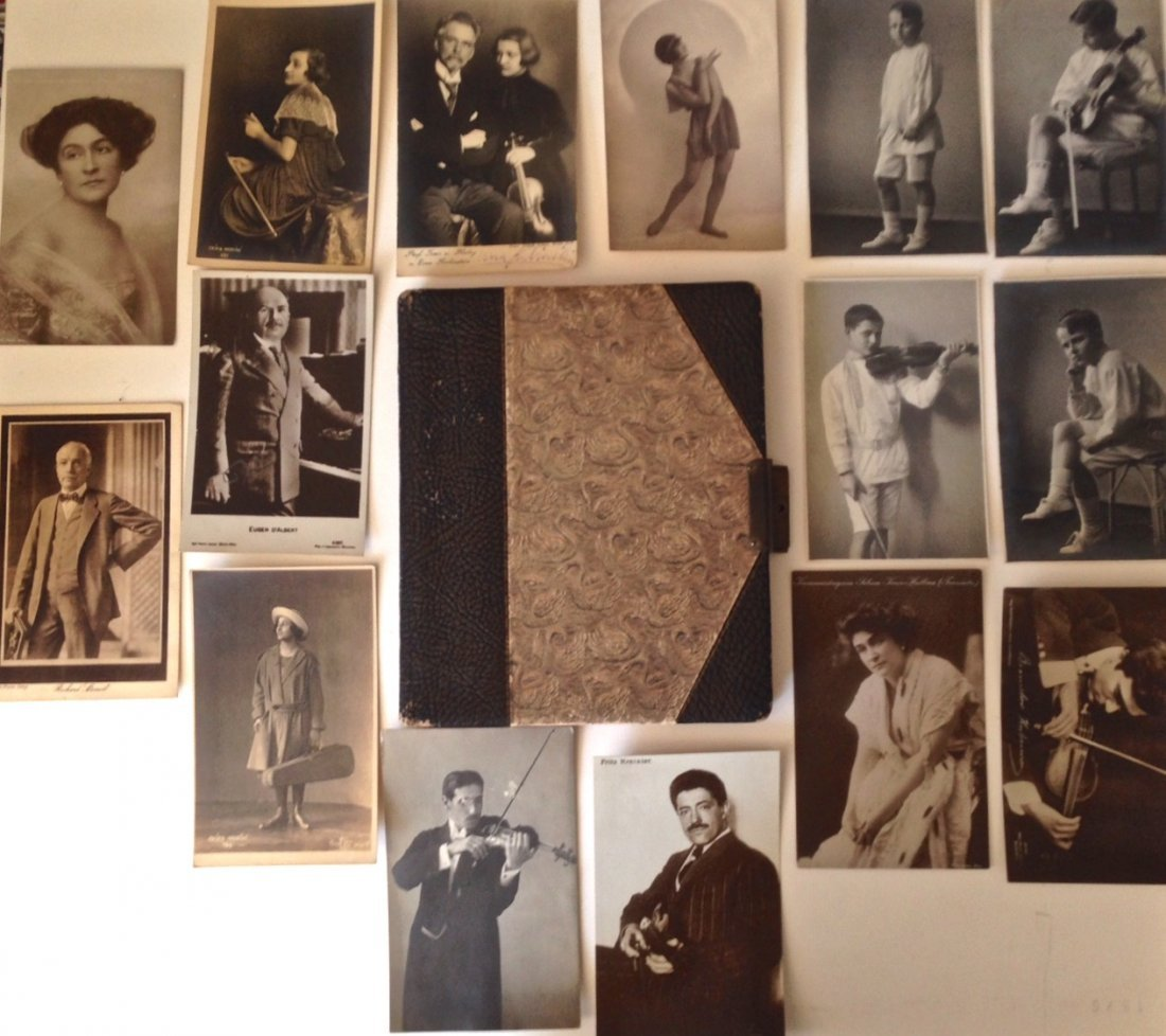 Autograph Album & Signed Photos of Renowned Muscians