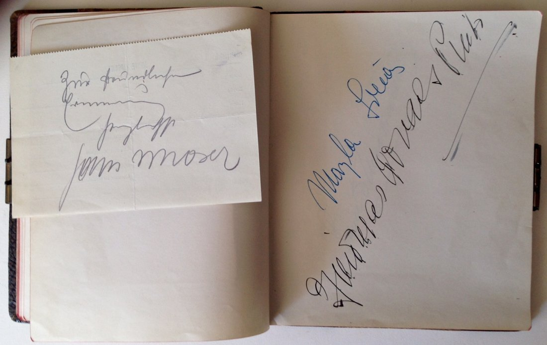 Autograph Album & Signed Photos of Renowned Muscians - 3