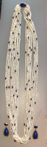 Gold, Lapis Lazuli, Diamonds & Pearls