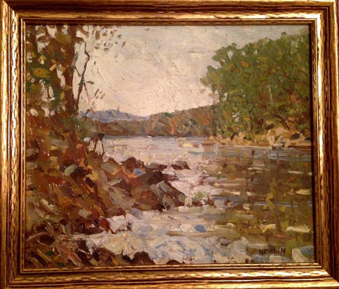 Hudson Valley Landscape Painting, John Newlin 1934