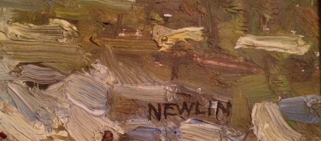 Hudson Valley Landscape Painting, John Newlin 1934 - 2