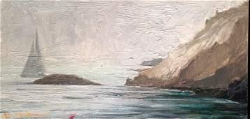 """John G. MacGowan Painting """"Newport Rhode Island"""""""