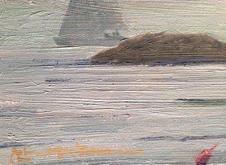 """John G. MacGowan Painting """"Newport Rhode Island"""" - 2"""