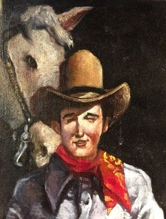 """Jerry  Moriarty, Oil Painting: """"Cowboy"""", Jack Survives - 2"""