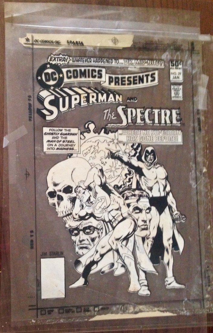 "Jim Starlin ""Superman Spectre"", Production Cover Art"
