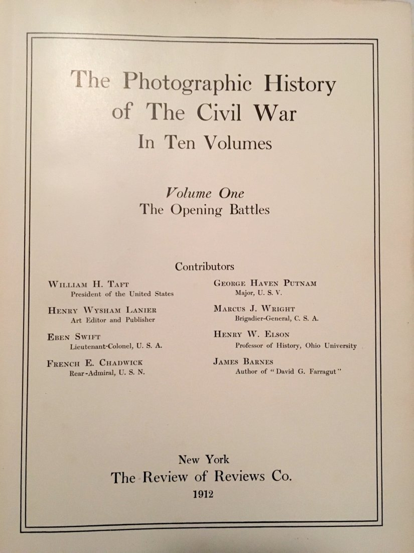 Photographic History Of The Civil War ,1912 - 2