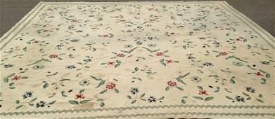 Semi-antique Hand-Woven Wool Rug, 15' x 15'