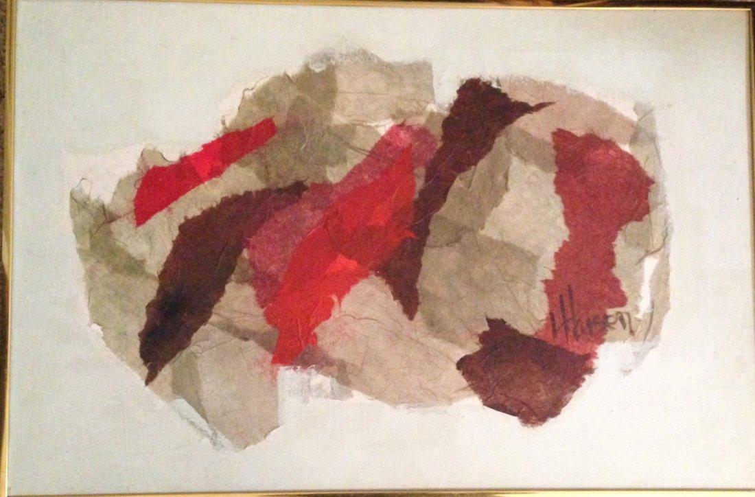 Midcentury Abstract Oil Painting, Haisen 1950's