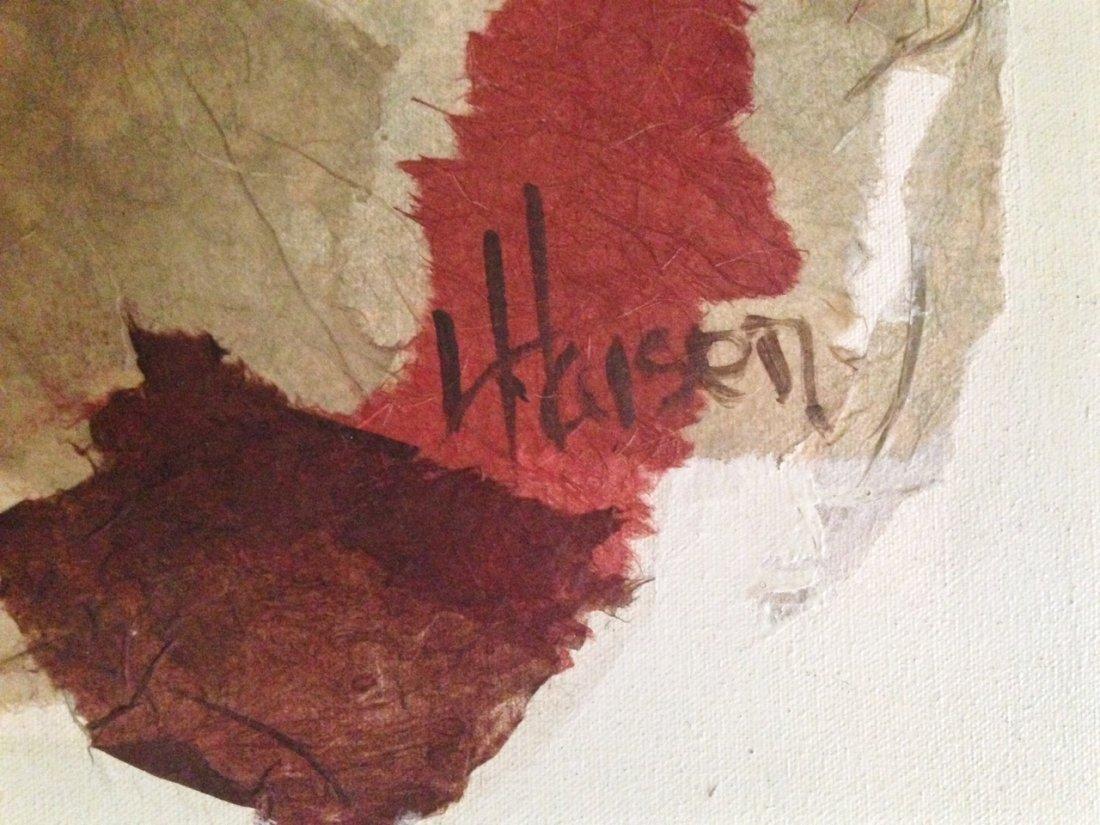Midcentury Abstract Oil Painting, Haisen 1950's - 2