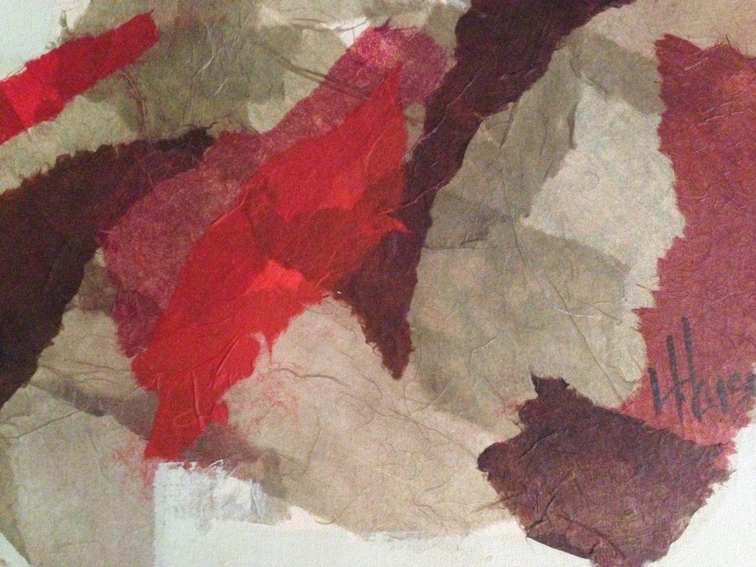 Midcentury Abstract Oil Painting, Haisen 1950's - 3