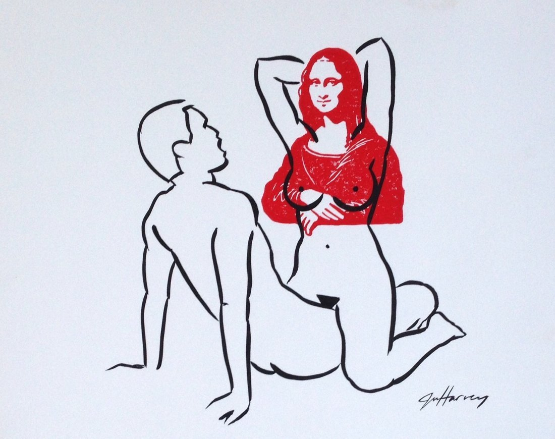Julie Harvey Erotic Mona Lisa Drawings (2) - 4
