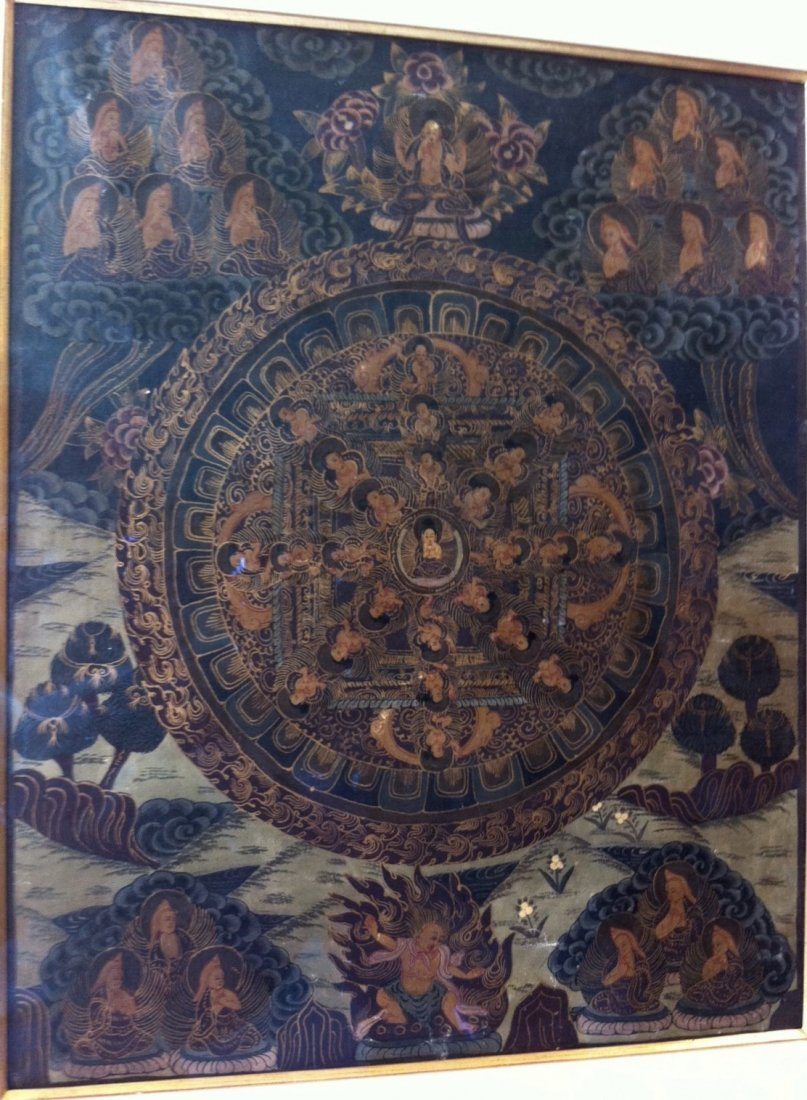 Tibetan Thangka Painting, 19th Century - 3