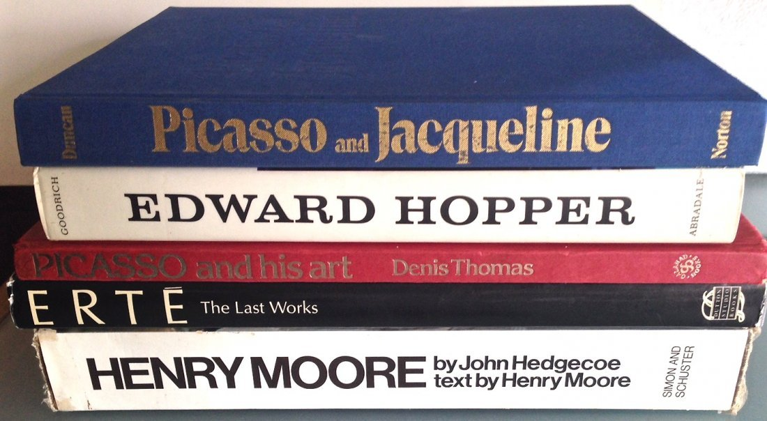Art Book collection: Picasso, Moore, Hopper & Erte