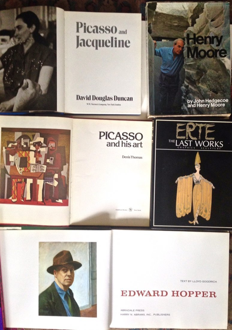 Art Book collection: Picasso, Moore, Hopper & Erte - 2