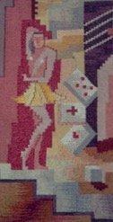 Mid-century Modernist Cubist Tapestry, 1950's - 3
