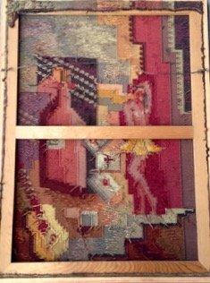 Mid-century Modernist Cubist Tapestry, 1950's - 4