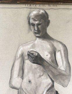 """Geo. Merritt Graphite Drawing """"Young Man"""" - 4"""