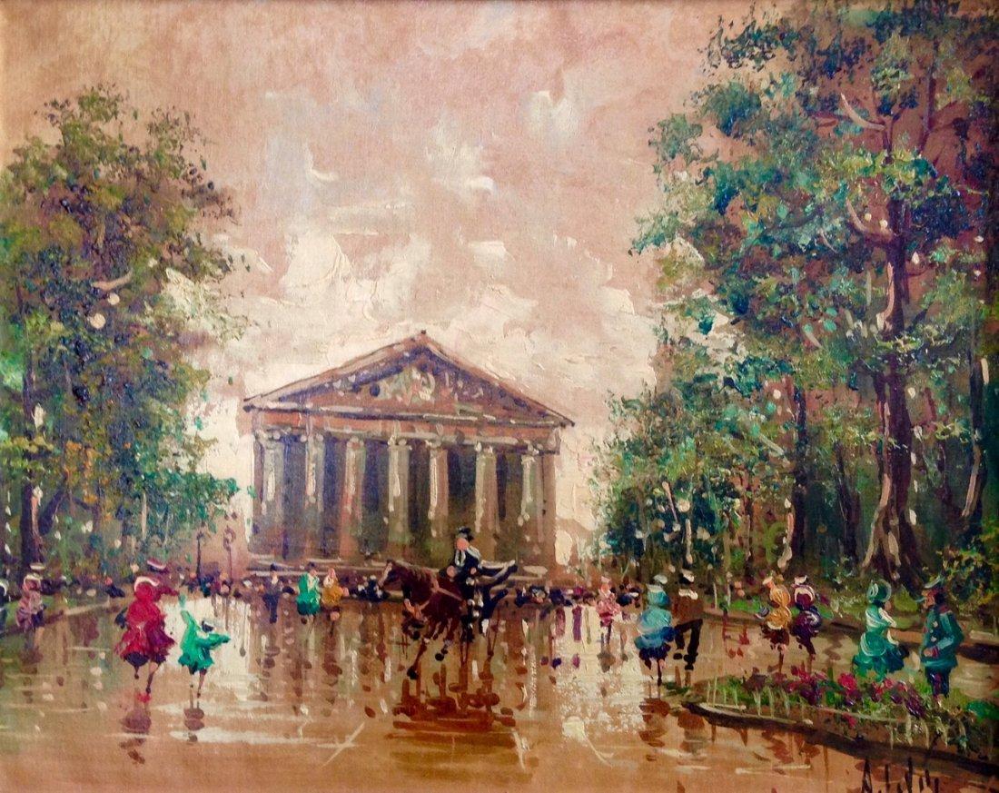 Antonio DeVity, (Italy,b.1901-1993) Paris Park Painting - 2