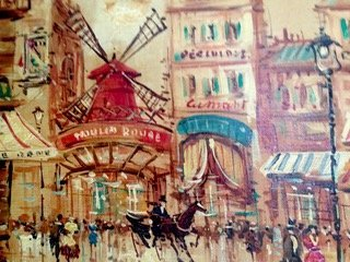 A. DeVity (Italian,b.1901-1993) Moulin Rouge Painting - 3
