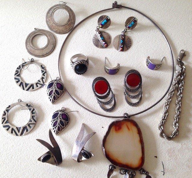 Estate Sterling Silver Jewelry - 3