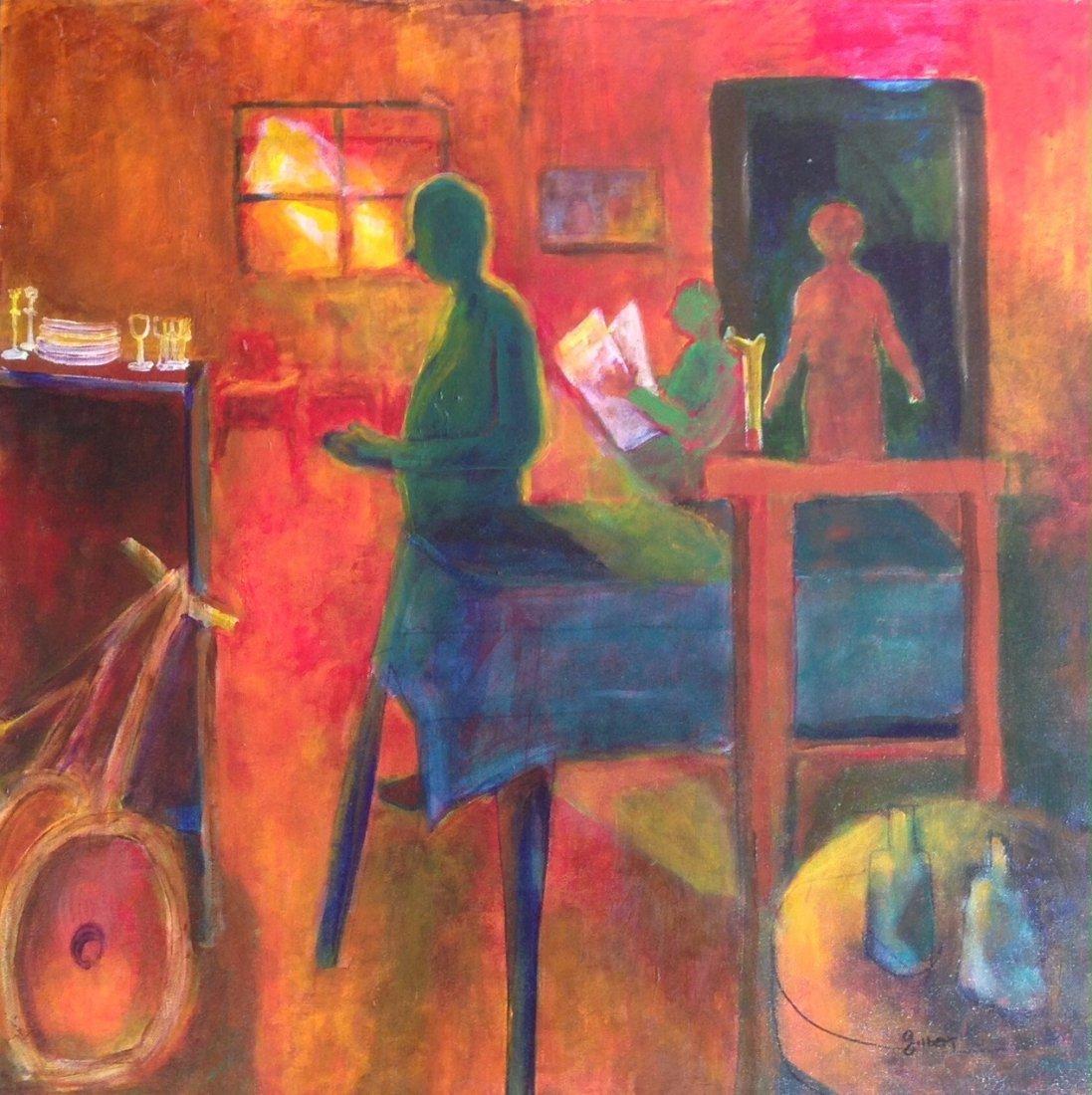 "Woodstock Painting, Phyllis Gilbert ""Twilight Time"""