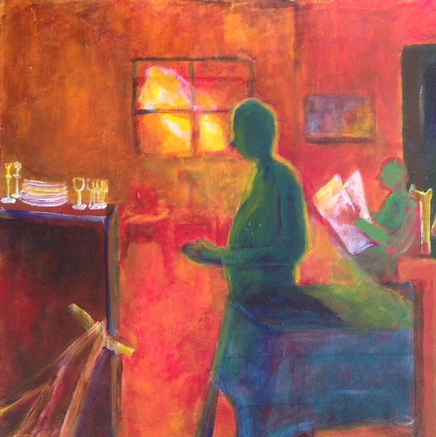 "Woodstock Painting, Phyllis Gilbert ""Twilight Time"" - 5"