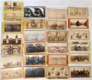Stereoview Cards of Washington D.C. & New York City
