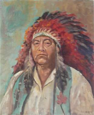 Native American Indian Painting, Hi Berry