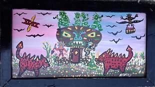 Argately Painting, Monsters Versus American Indians